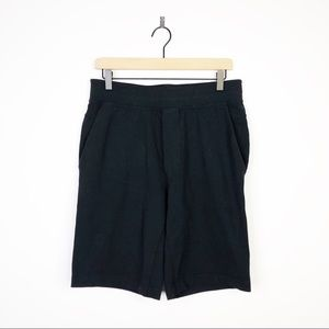 Lululemon Men's Black Elastic Waist Active Shorts